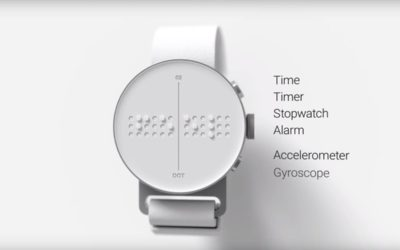 Dot Smartwatch, el reloj inteligente en Braille